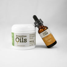 Load image into Gallery viewer, CBD Broad Spectrum Oil Tincture (500mg) and Salve (4oz./ 800mg) Bundle
