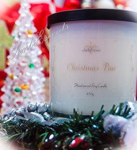 AmbiEscents Christmas pine container candle, christmas tree, wreath