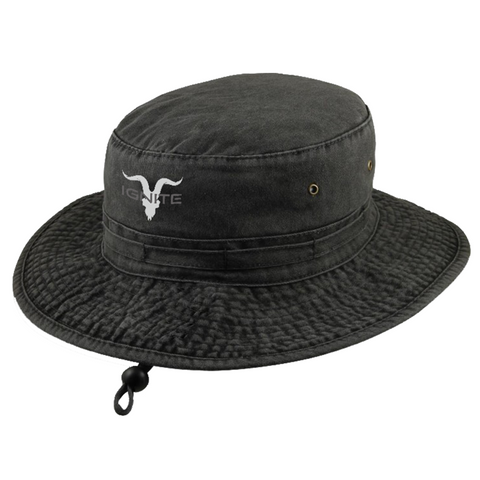 Ignite Core Collection Black Boonie Bucket Hat