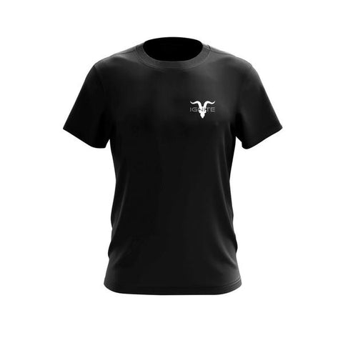 Ignite Core Collection Black Chest Logo Tee