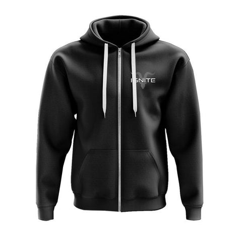 Ignite Core Collection Black Zip Up Logo Fleece Hoodie