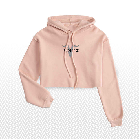 Ignite Premium Collection Ladies Peach Cropped Hoodie