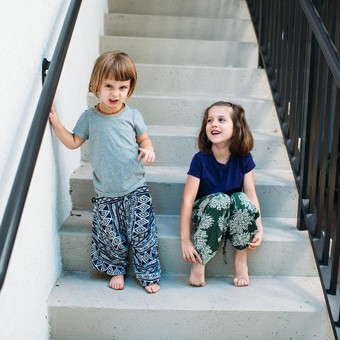 Kids Flower Harem Pants | Buddha Pants Canada