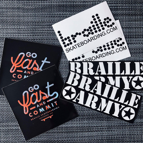 Braille MIXED Sticker Set - 6 Stk.