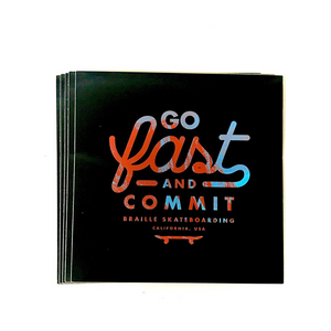 Braille Go Fast And Commit Sticker Set - 5 Stk.