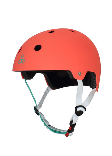 Triple Eight - Dual Certified Helmet Tangerine Rubber