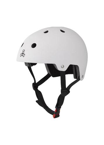 Triple Eight - Dual Certified Helmet White Rubber