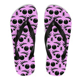 Unisex Flip-Flops with Spider Eyes print.