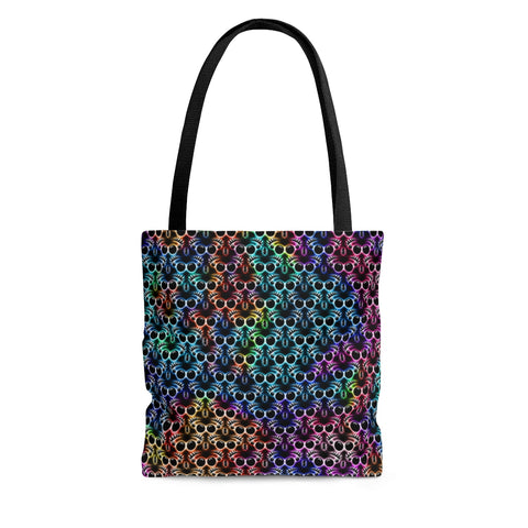 Jumping Spider Tote Bag Featuring Rainbow Jumping Spider Print.