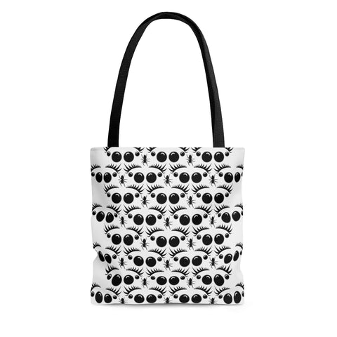 Jumping Spider Tote Bag Featuring Back&White Jumping Spider Print.