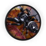 Wall clock with BFP spider print