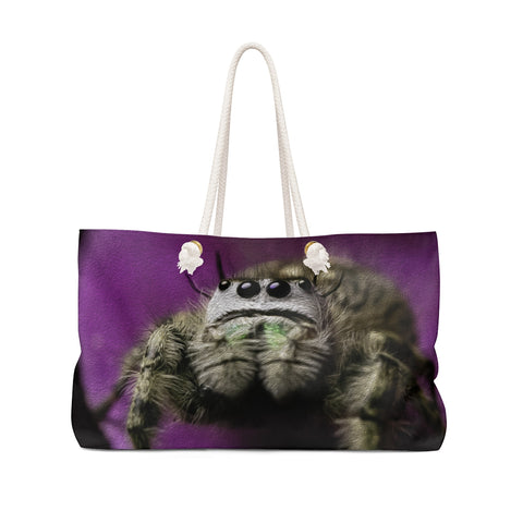 Weekender Bag with  P. otiosus Jumping Spider image on each side