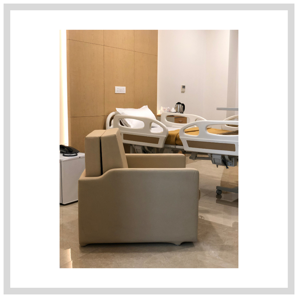 Sofa cum Beds for hospitals | Our recent work at Signature Hospital by Park group of Hospitals in Sector 37, Gurugram