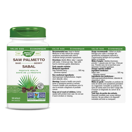 Saw Palmetto Berry, Standardized Extract / 180 capsules