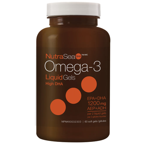 NutraSea® Omega-3 DHA Liquid Gels, Fresh Mint / 60 softgels