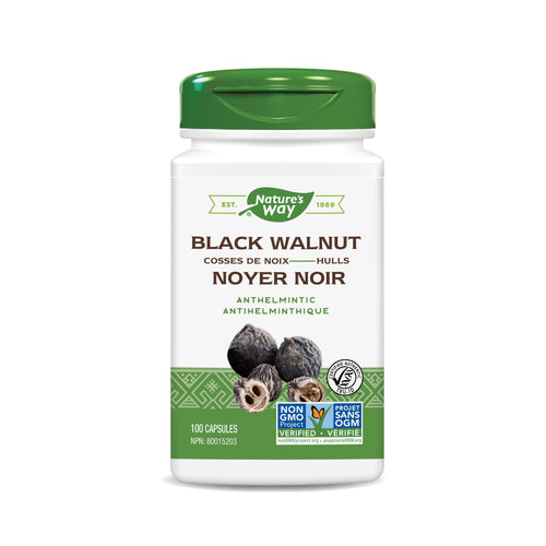 Black Walnut Hulls / 100 capsules