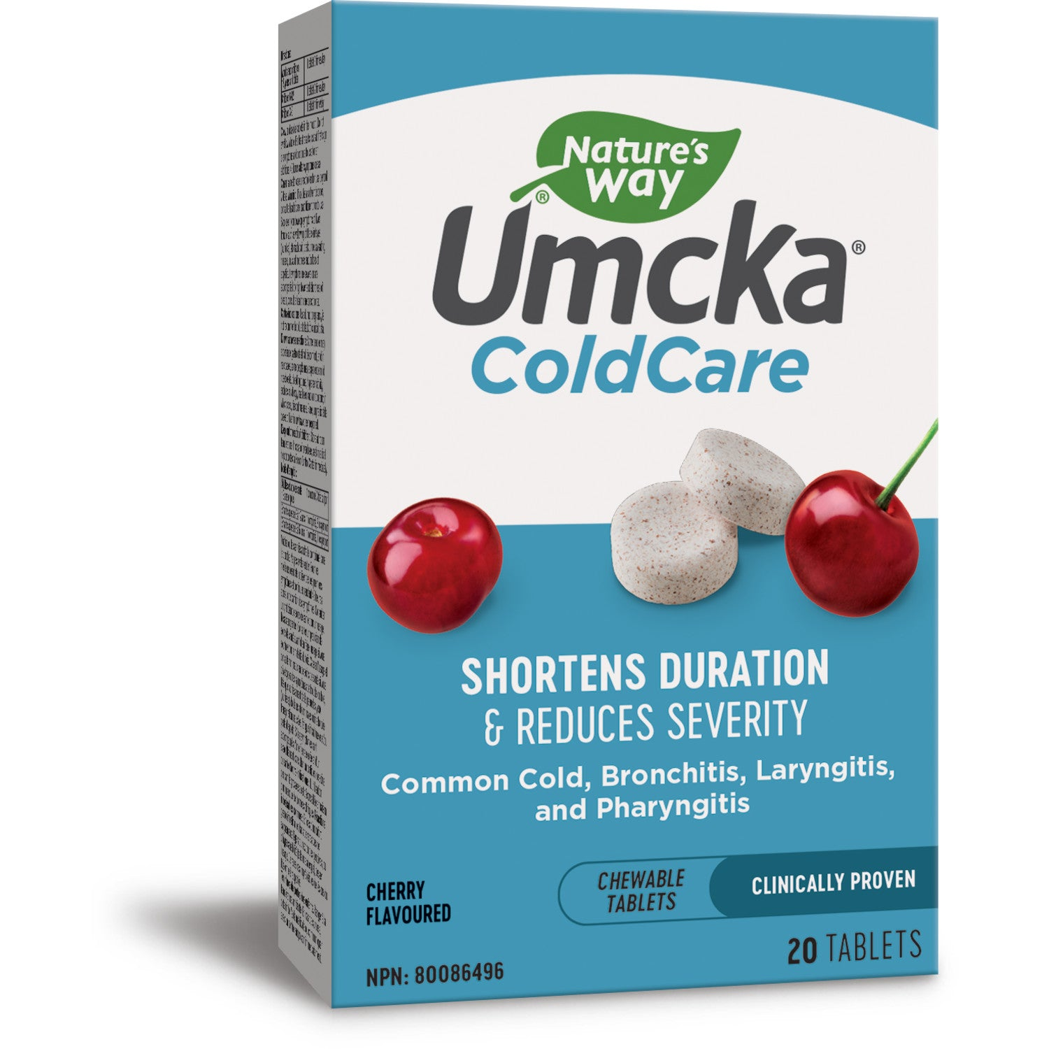 Umcka® ColdCare, Chewable Tablets, Cherry / 20 chewables
