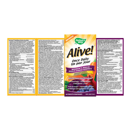 Alive!® Women's Once Daily / 60 tablets