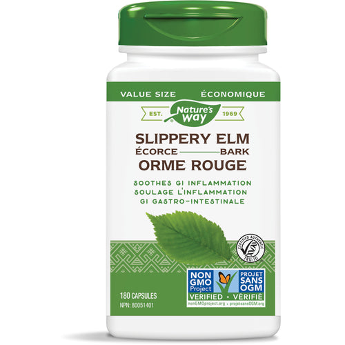 Slippery Elm Bark / 180 capsules