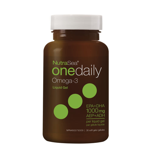 NutraSea® Omega-3 One Daily Liquid Gels, Fresh Mint / 30 softgels
