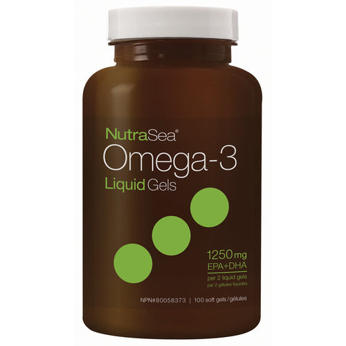 NutraSea® Omega-3 Liquid Gels, Fresh Mint / 100 softgels