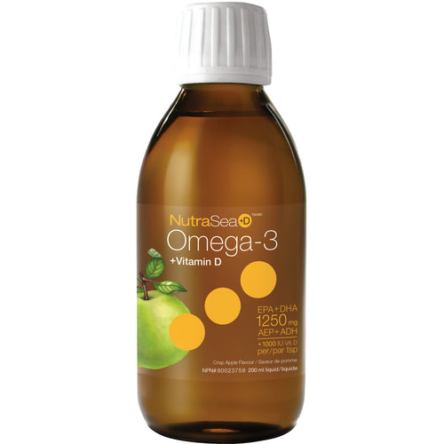 NutraSea+D™ Omega-3, Crisp Apple / 6.8 fl oz (200 ml)