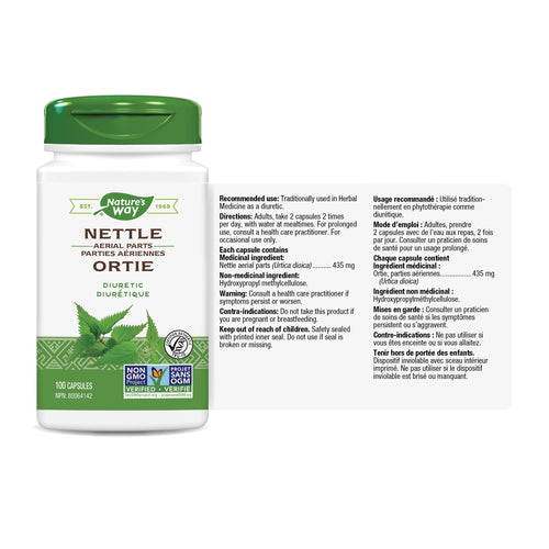 Nettle, Aerial Parts / 100 capsules