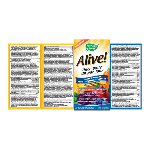 Alive!® Men's Once Daily / 60 tablets