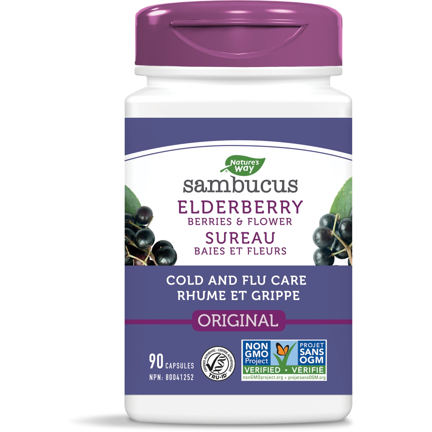 Sambucus Elderberry Cold and Flu Care Capsules / 90 capsules