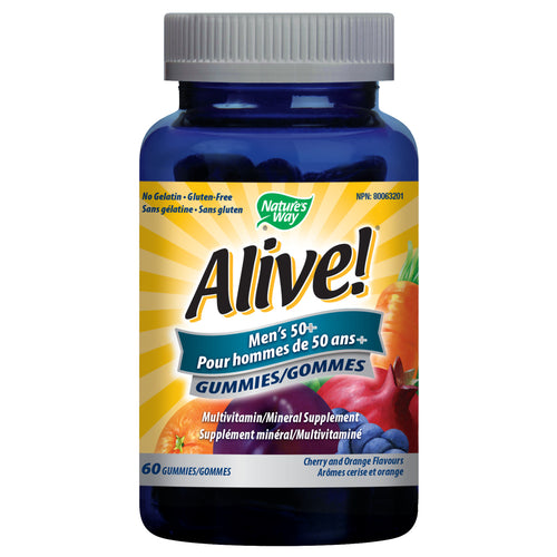 Alive!® Men's 50+ Gummy / 60 gummies