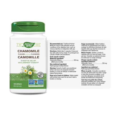 Chamomile Flowers / 100 capsules