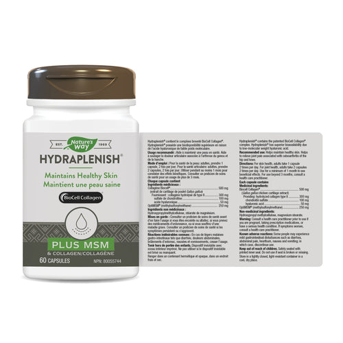 Hydraplenish® Plus MSM & Collagen / 60 capsules