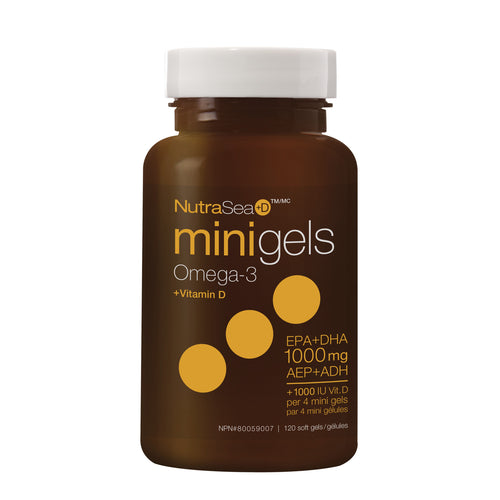 NutraSea+D™ Omega-3 Mini Gels, Fresh Mint / 120 softgels