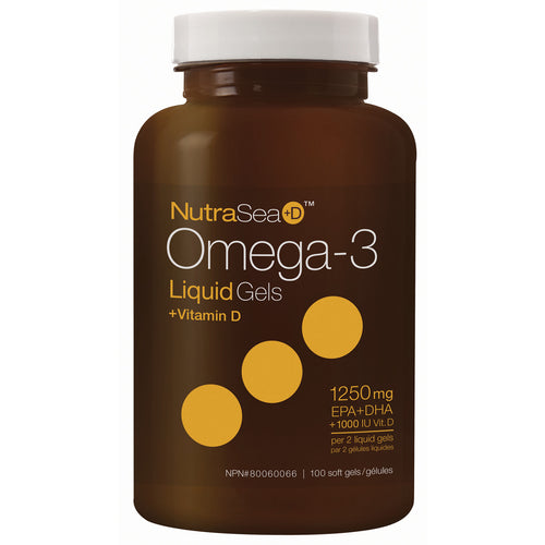 NutraSea+D™ Omega-3 Liquid Gels, Fresh Mint / 100 softgels