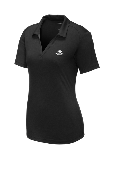 Mossy Oak Properties Custom TriBlend Womens Polo - Black Triad