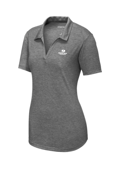 Mossy Oak Properties Custom TriBlend Womens Polo  - Dark Grey Heather