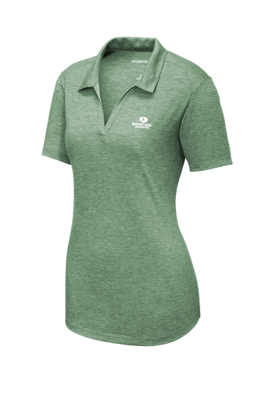 Mossy Oak Properties Custom TriBlend Womens Polo  - Forest Green Heather