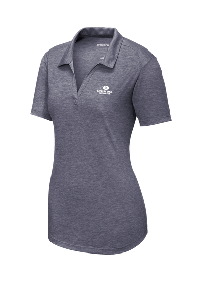 Mossy Oak Properties Custom TriBlend Womens Polo  - True Navy Heather