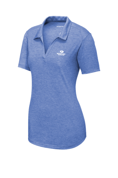 Mossy Oak Properties Custom TriBlend Womens Polo  - True Royal Heather