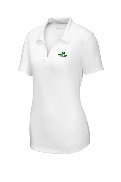 Mossy Oak Properties Custom TriBlend Womens Polo  - White