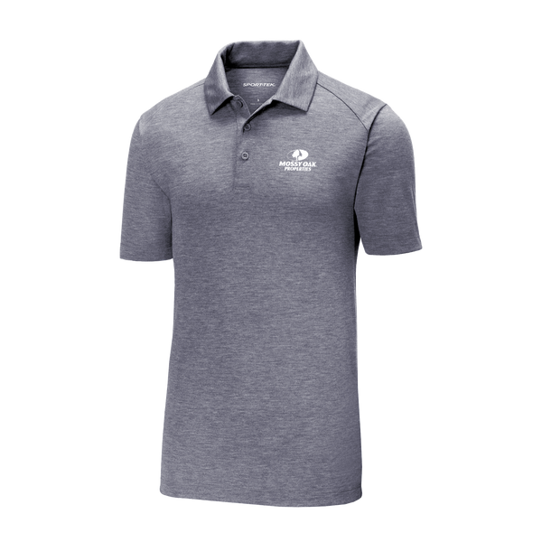 Mossy Oak Properties Custom TriBlend Polos - True Navy Heather