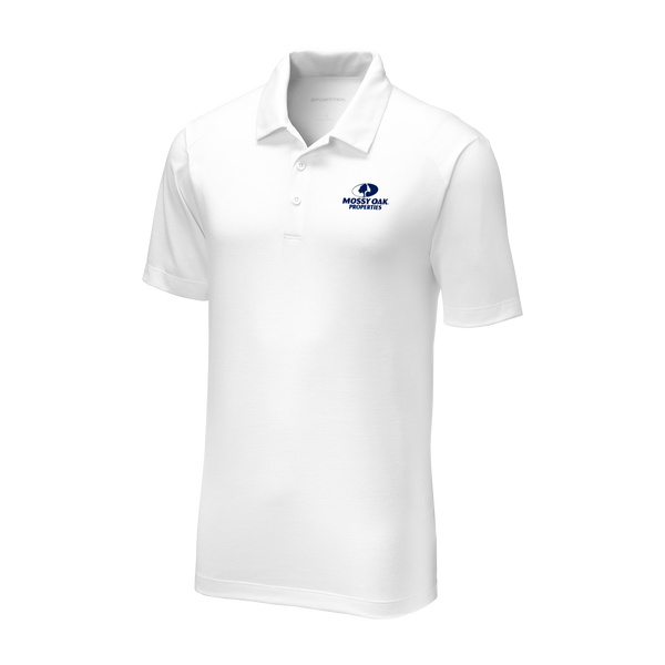 Mossy Oak Properties Custom TriBlend Polos - White