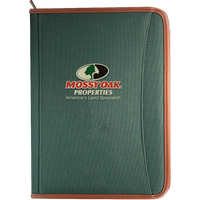Premium Zippered Padfolio with Custom Office Logo