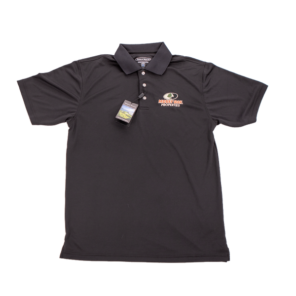 Mossy Oak Properties Black Golf Shirt