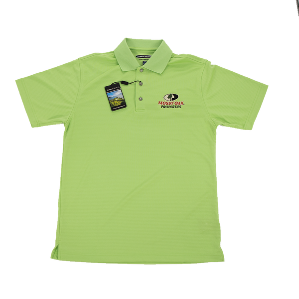 Mossy Oak Properties Grass Green Golf Shirt