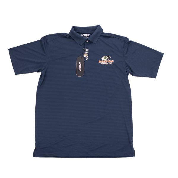 Mossy Oak Properties Navy Golf Shirt