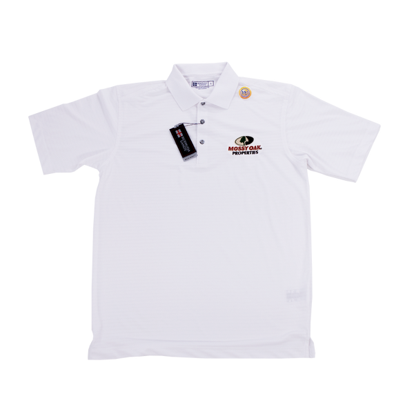 Mossy Oak Properties White Golf Shirt