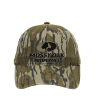 Mossy Oak Properties Bottomland Hat with Khaki & Black Logo