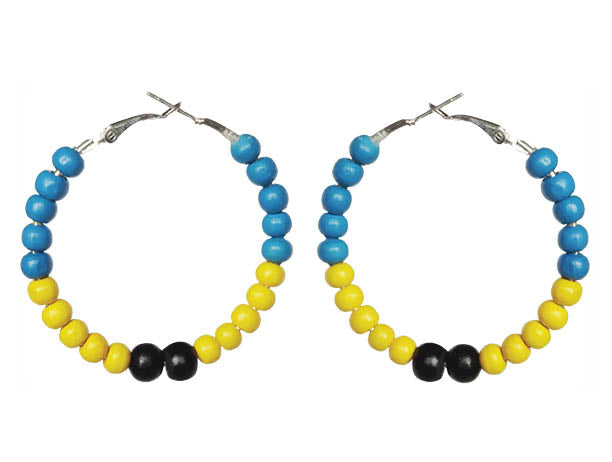 Barbados Carnival Hoop Earrings