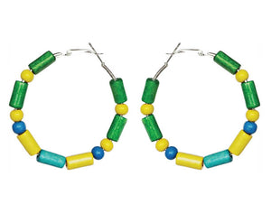 Brazil Heritage Hoop Earrings